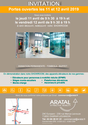 Invitation portes ouvertes Aratal Attractives Mobility 11 et 12 avril 2019